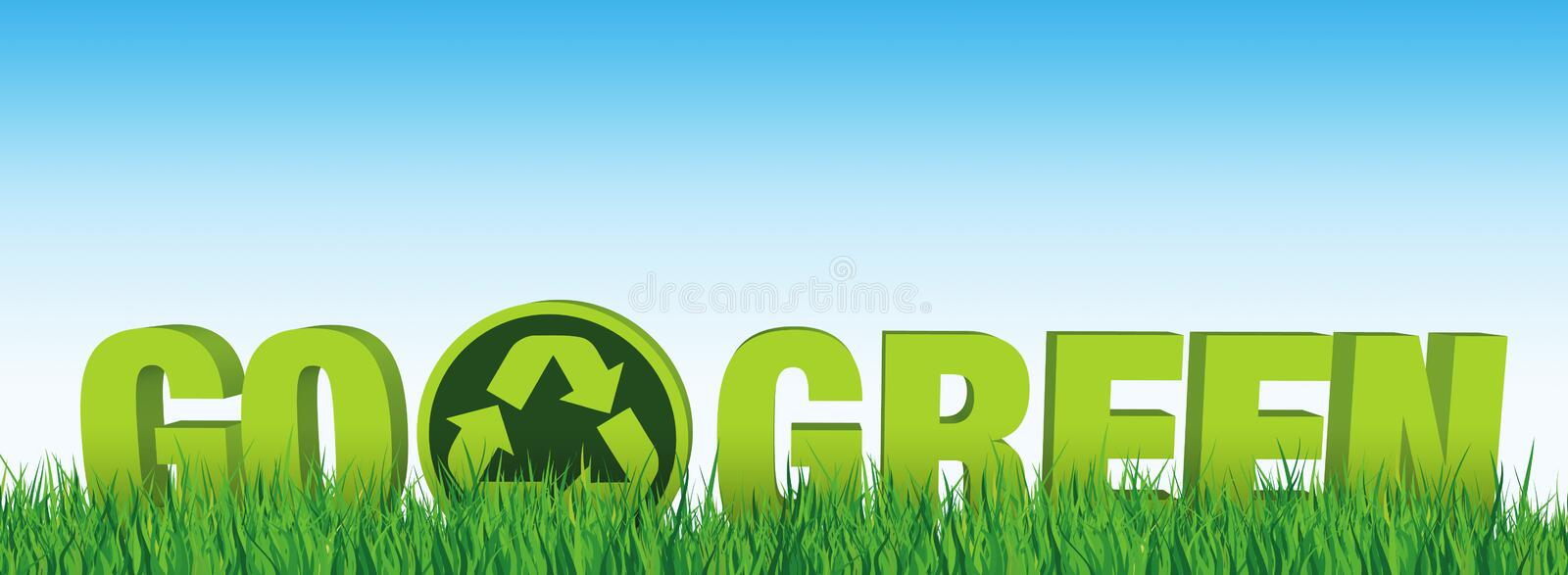 Download Go Green stock illustration. Image of grass, recycle - 24237767