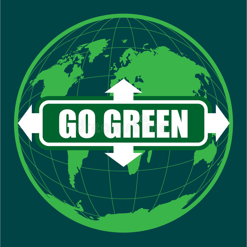 Download GO GREEN stock vector. Image of street, environment, illustration - 24713241