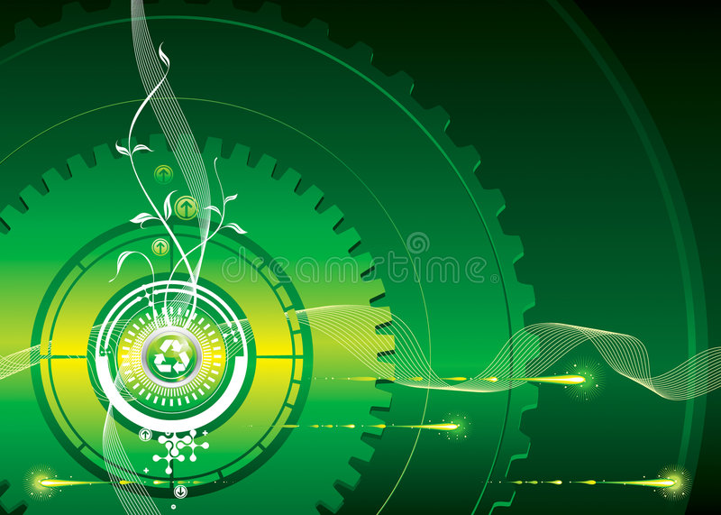 Go-Green. Green industrial concept, vector illustration layered