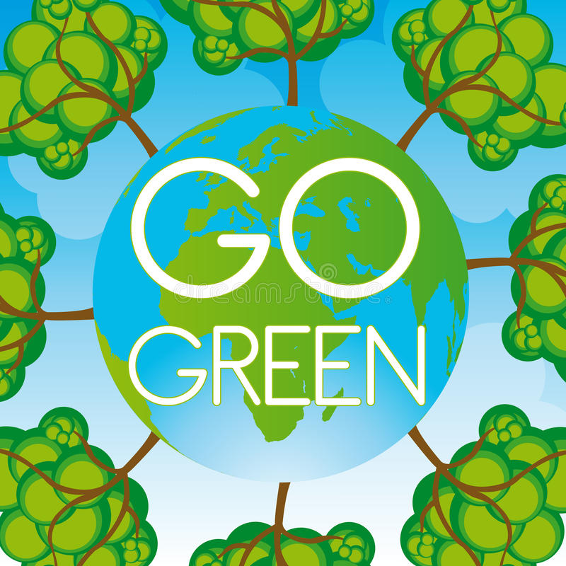 Go Green Background Royalty Free Stock Photo
