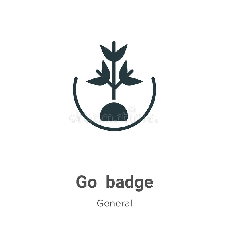 Go green badge vector icon on white background. Flat vector go green badge icon symbol sign from modern general collection for royalty free illustration