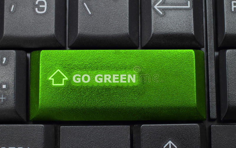 Download Go Green Button On Keyboard Background Stock Image - Image: 23590681