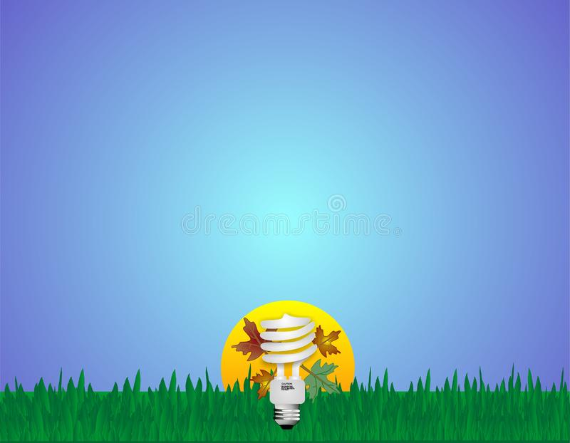 Download Go Green With CFL Light Bulbs Stock Vector - Illustration: 8661773