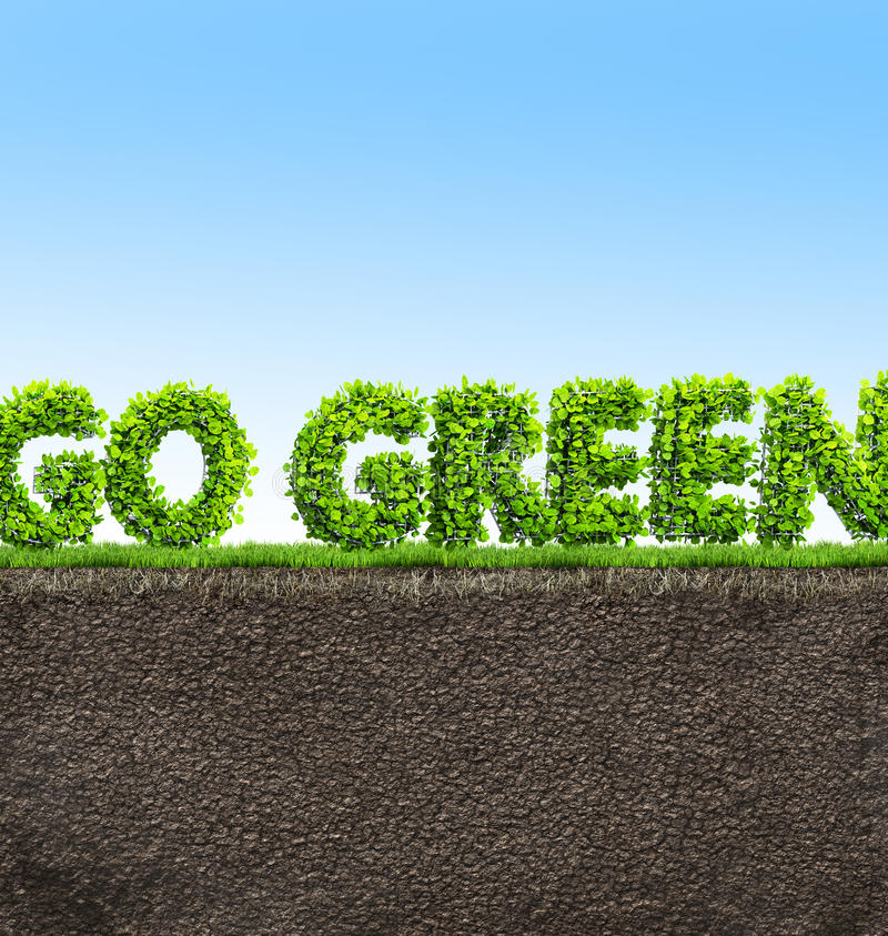 Download Go green concept stock illustration. Image of grass, tree - 83713326