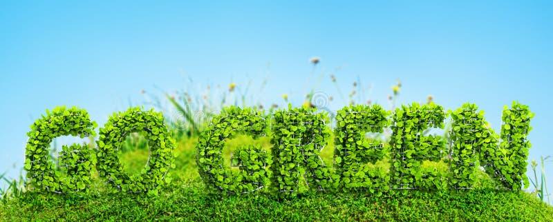 Download Go Green Concept Stock Illustration - Image: 83713649