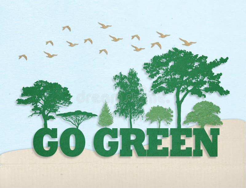 Go Green concept royalty free stock photos
