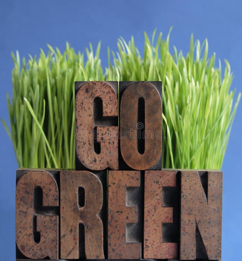 Go Green Grass On Blue Stock Photos