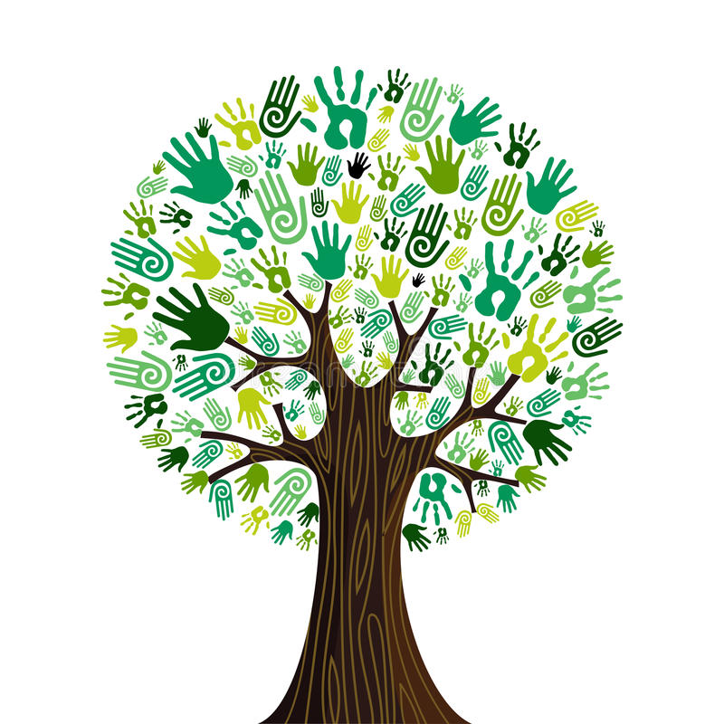 Download Go Green Hands Collaborative Tree Stock Photos - Image: 25541493