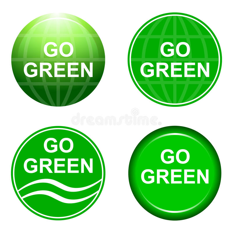 Go green stock illustration