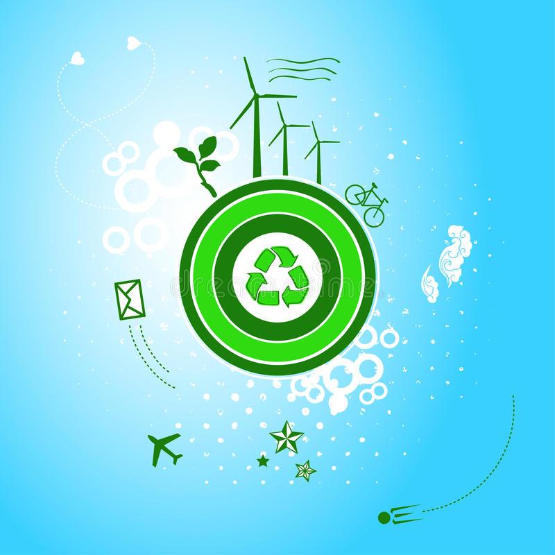 Download Go green planet stock vector. Image of green, recycle - 29509816