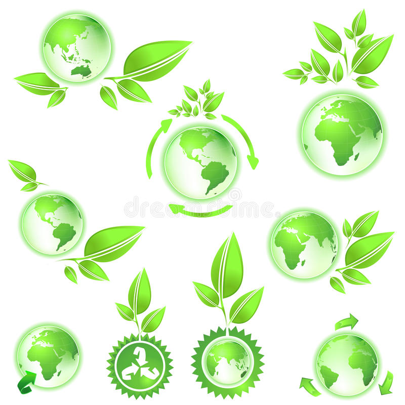 Download Go Green, Planet Earth Maps Stock Vector - Image: 10788634