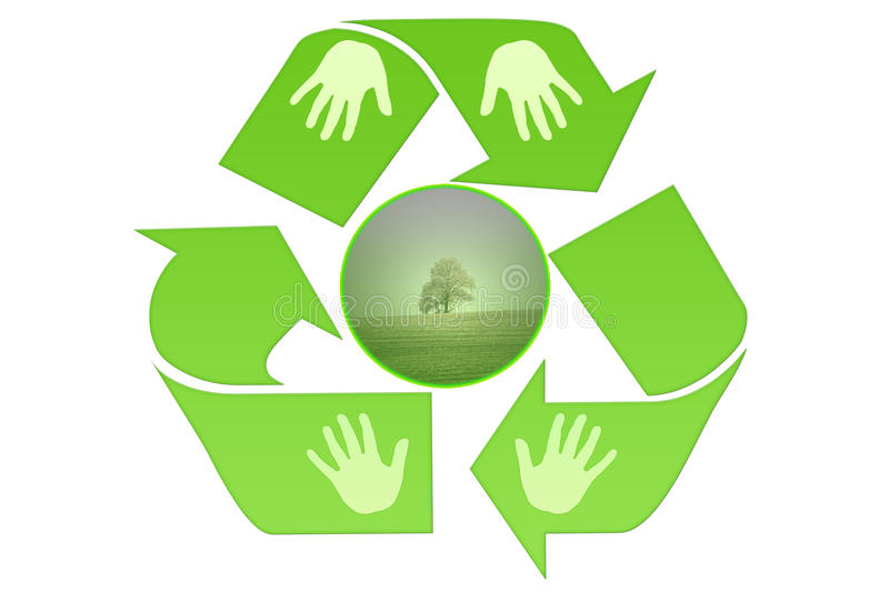 Go green recycle vector illustration