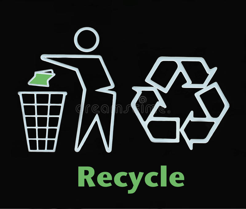 Go green recycle sign. Go green recycle environmental sign stock illustration