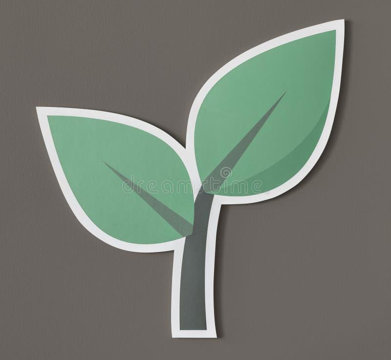 Go green think green act green vector illustration