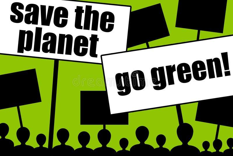 Go green stock illustration