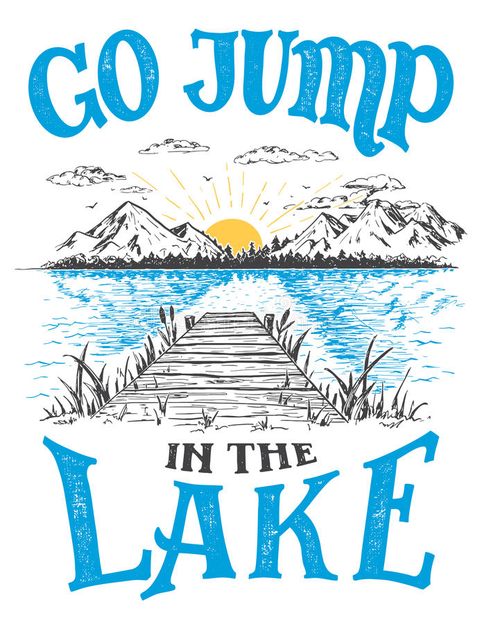 Download Go Jump In The Lake House Decor Sign Stock Vector