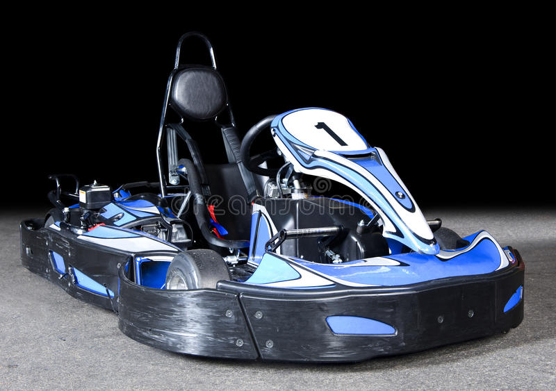 Go Kart. Photo of a modern Go-Kart in perspective stock images