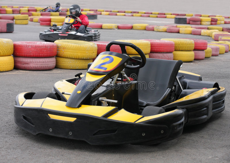 Go Kart. An empty Go Kart on racecourse royalty free stock photography