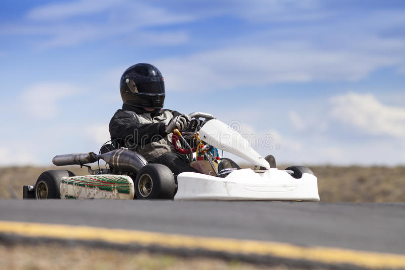 Go Kart racer royalty free stock images