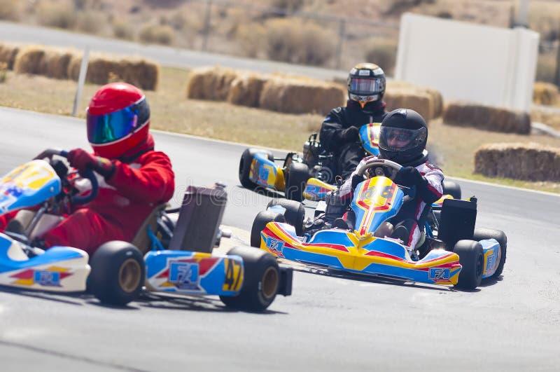Go Kart Racers royalty free stock photo