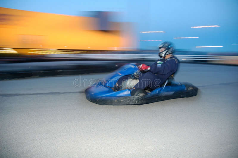 Go-kart racing stock photo