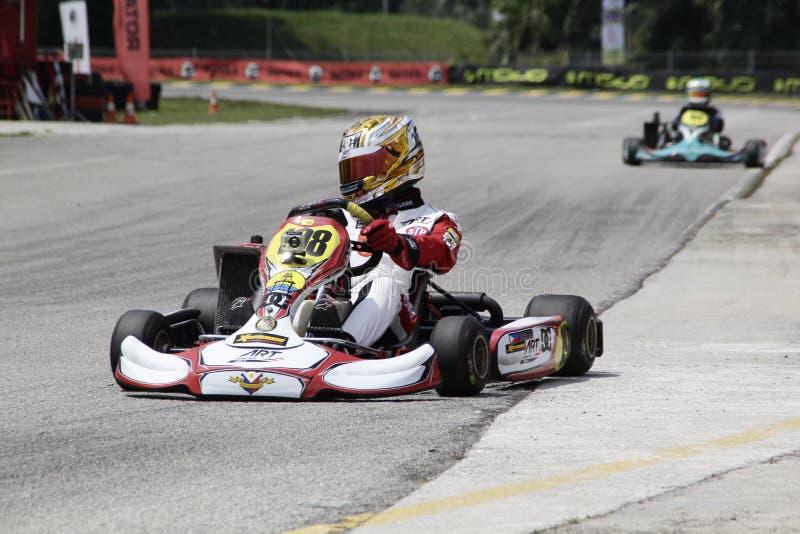 Go kart racing sports stock image