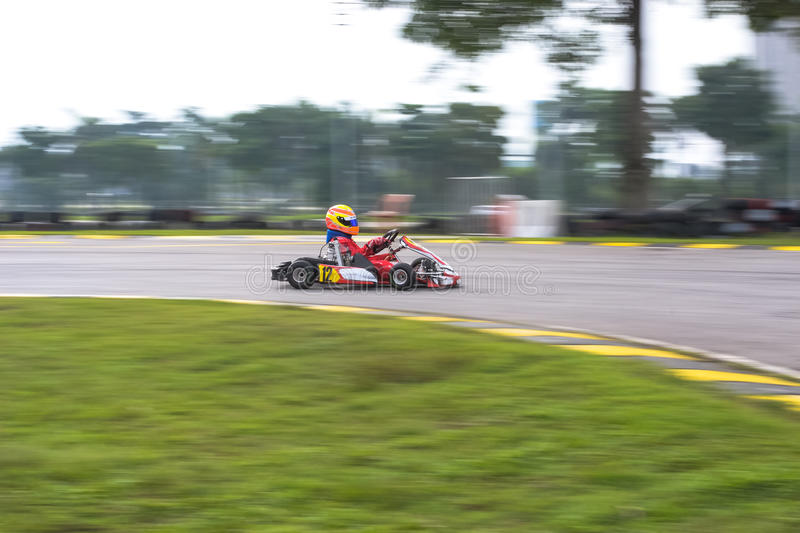 Go kart racing sports stock images