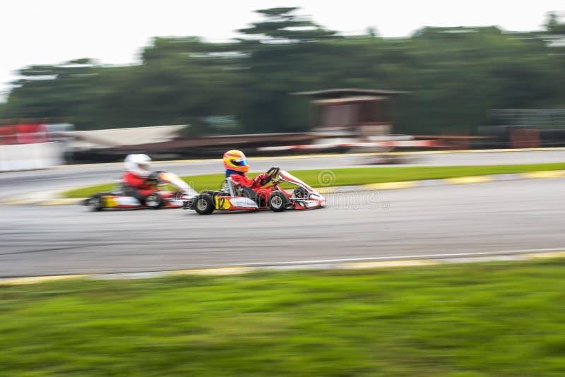 Go kart racing sports stock photo