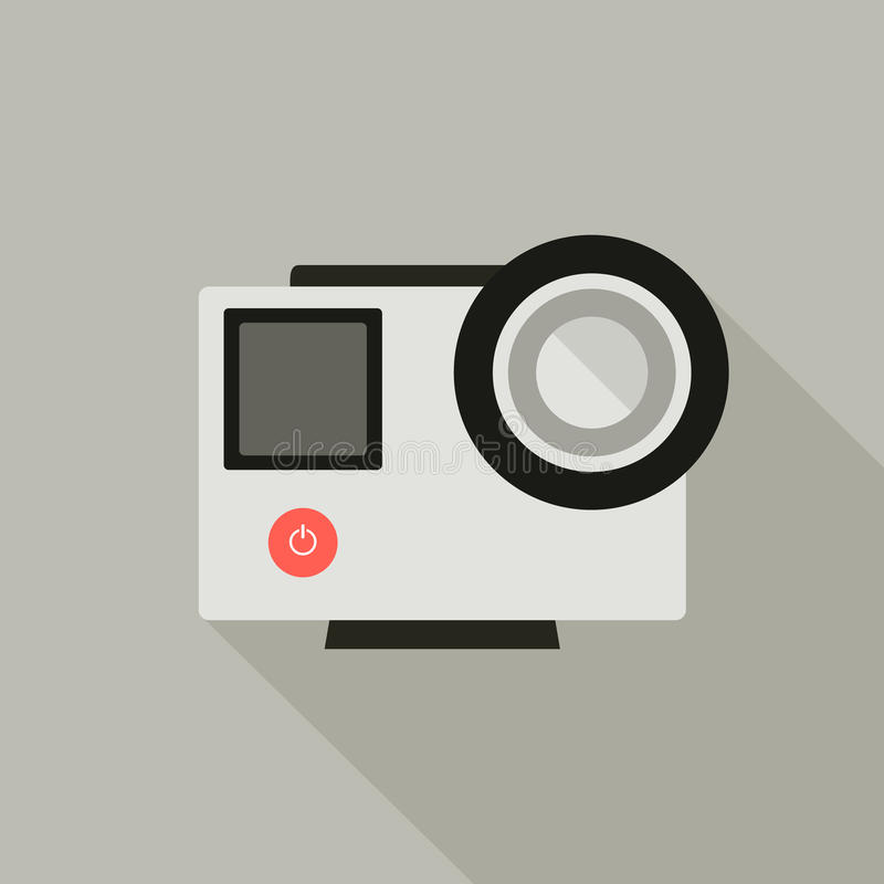 Go Pro camera royalty free illustration