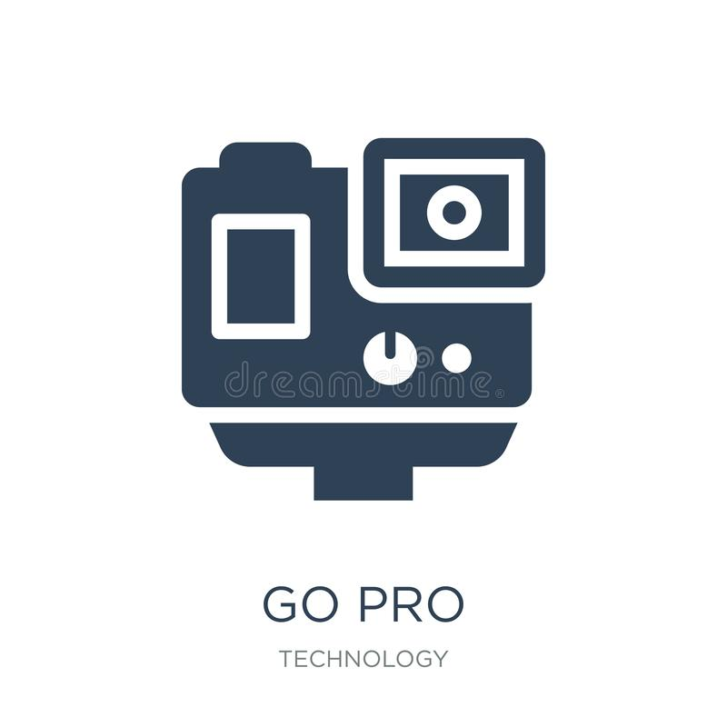 go pro icon in trendy design style. go pro icon isolated on white background. go pro vector icon simple and modern flat symbol for vector illustration
