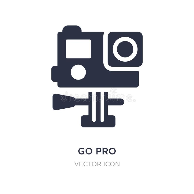 go pro icon on white background. Simple element illustration from Technology concept vector illustration