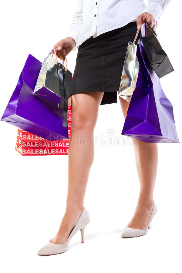 Download Go for shopping stock image. Image of caucasian, heels - 27161999