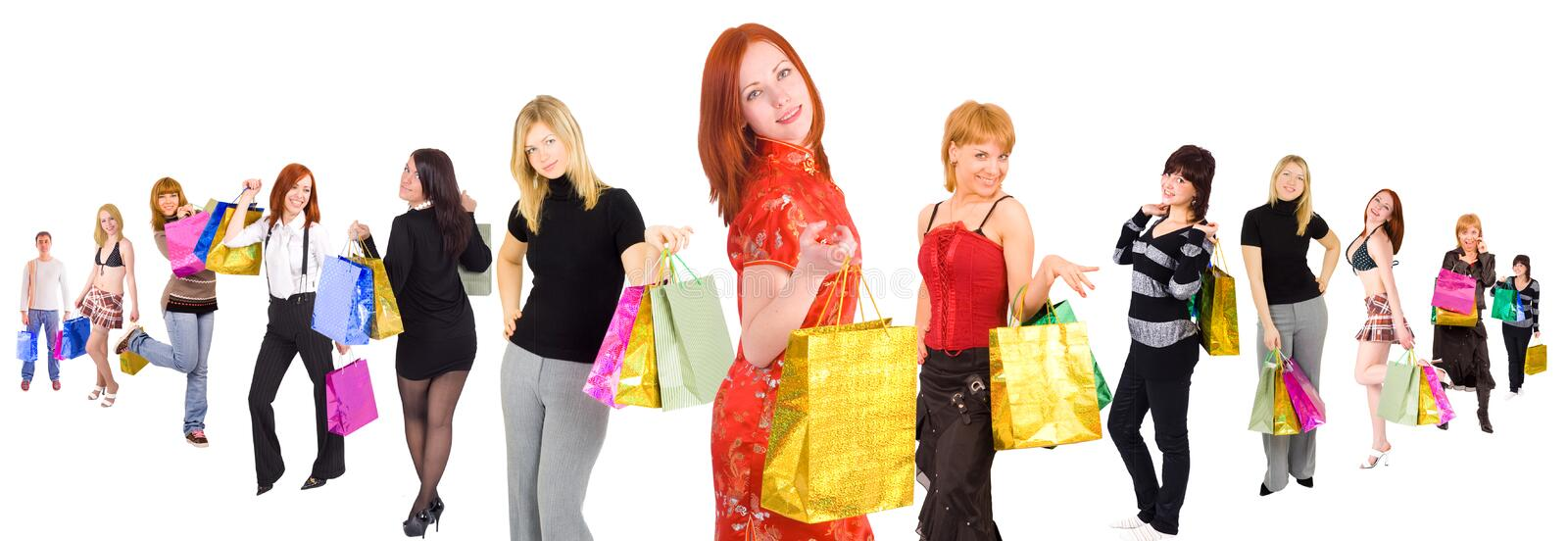 When We Go Shopping We Mean It Stock Photography