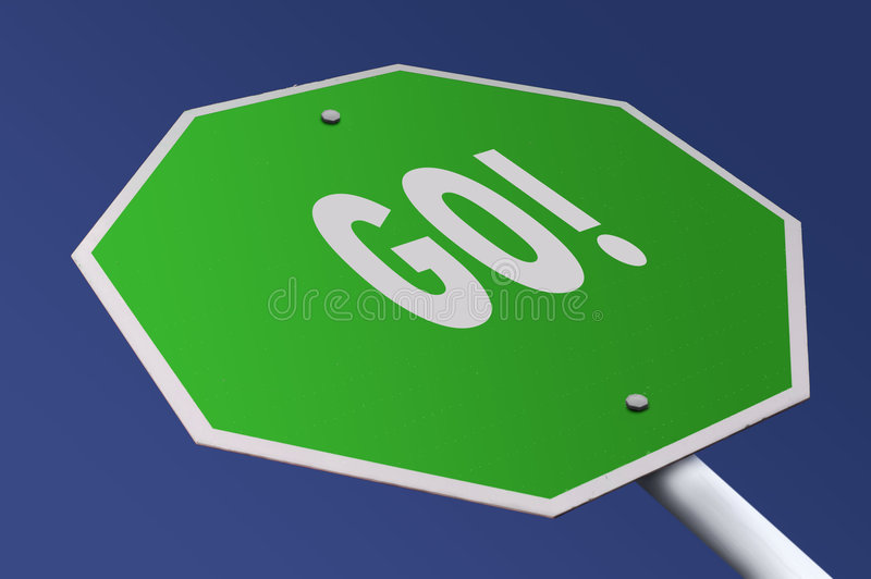Go Sign stock photography