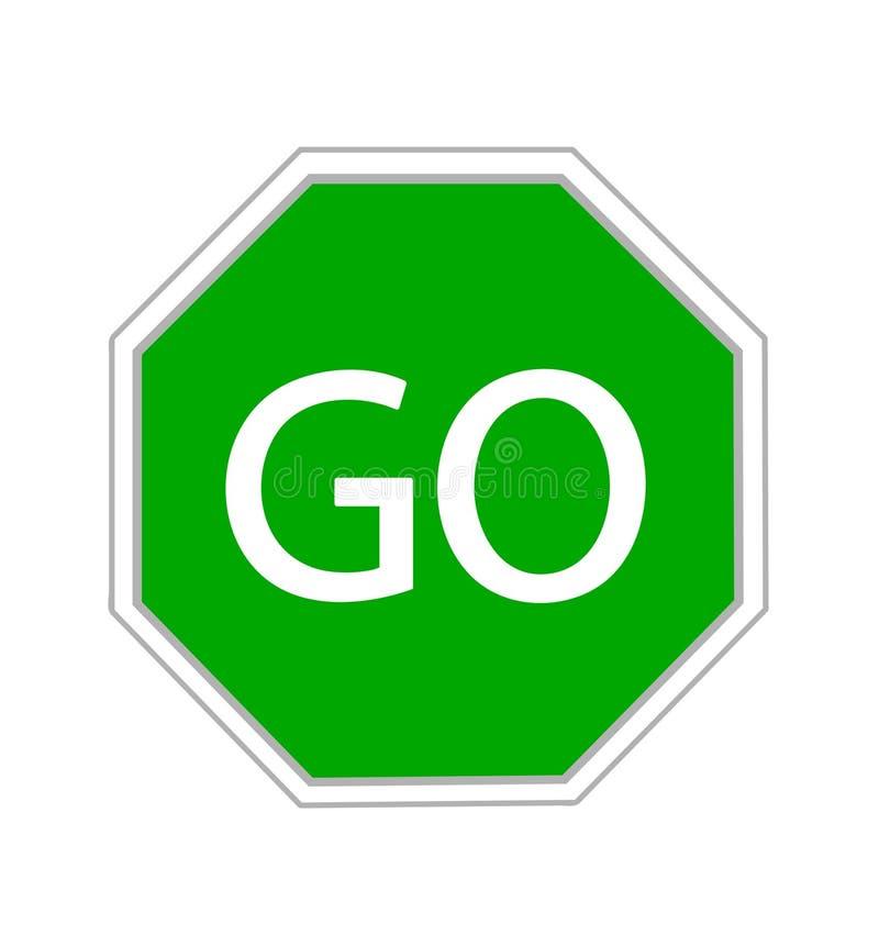 Free Go Sign On White Stock Photo - 144872030