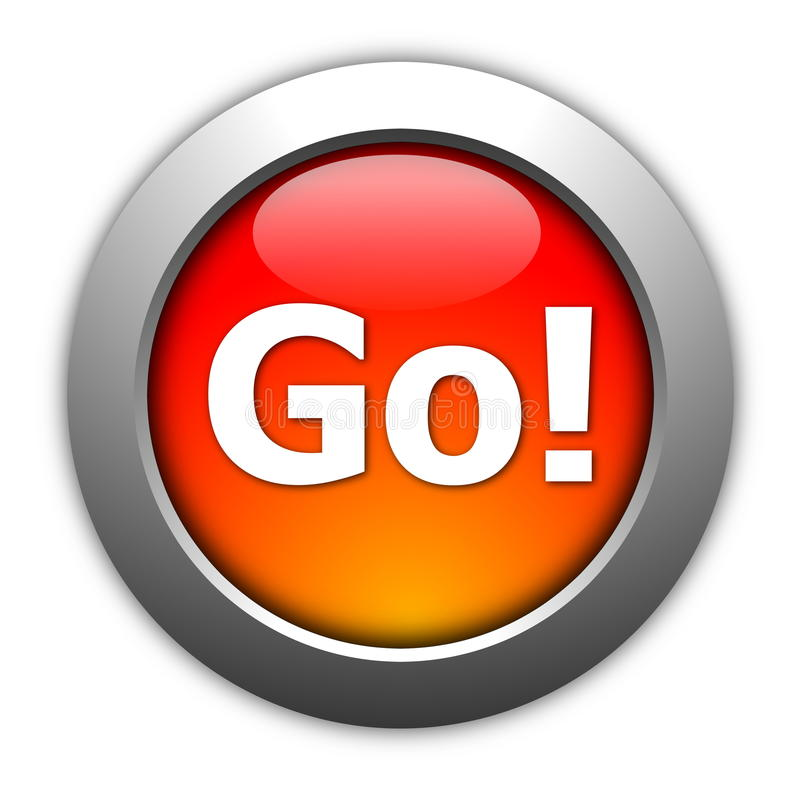 Go or start button royalty free illustration