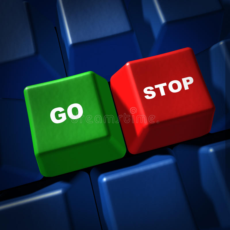 Free Go Stop Green Red Light Computer Keyboard Key IT S Stock Photos - 17808363