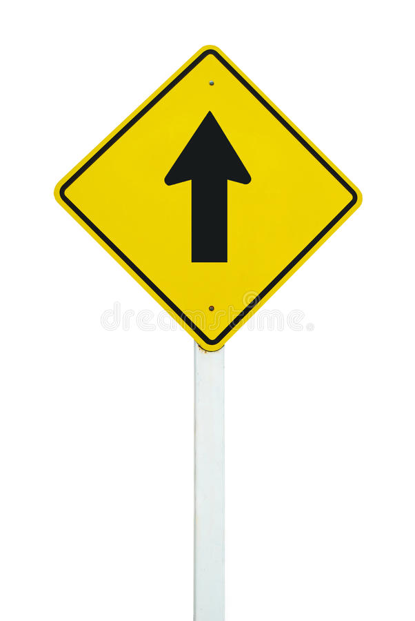 Download Go Straight Direction Traffic Sign Isolated Royalty Free Stock Photography - Image: 16677857