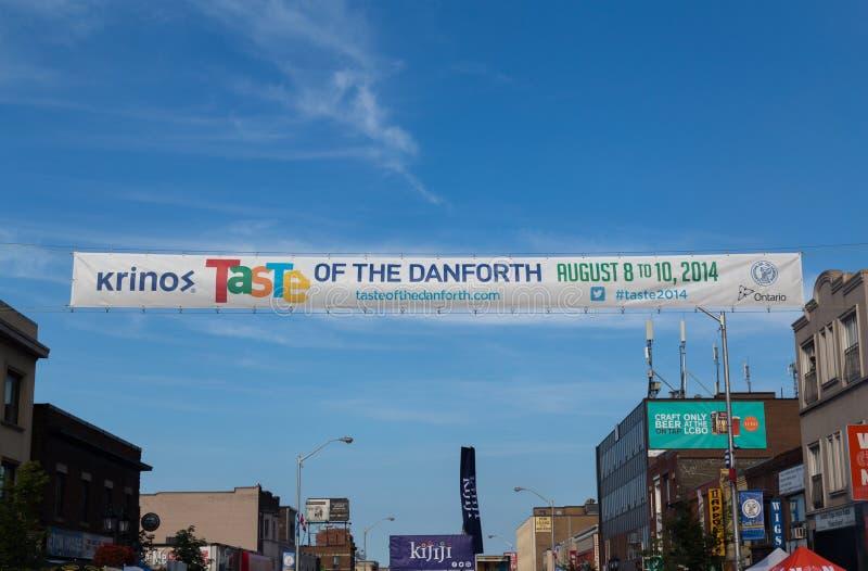 Goût du Danforth Toronto image libre de droits