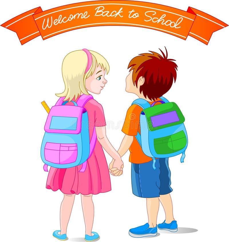 Go to school stock illustration