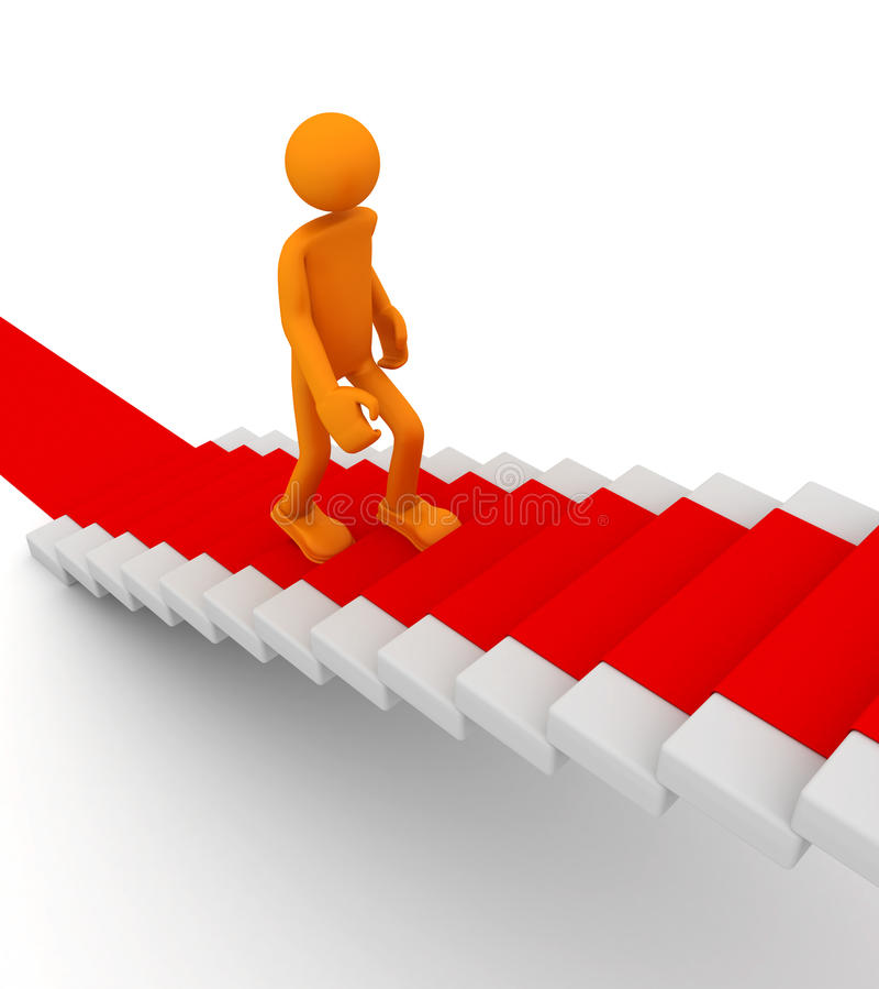 Download Go to success stock illustration. Image of render, carpet - 13603878