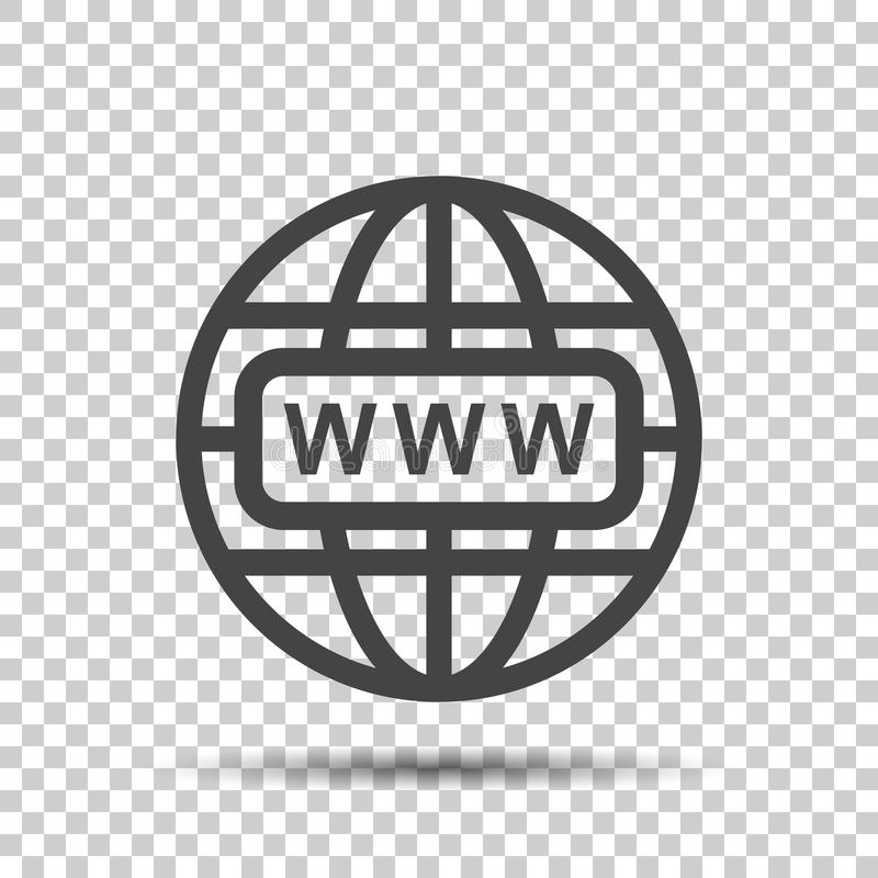 Go to web icon. Internet flat vector illustration for website on royalty free illustration