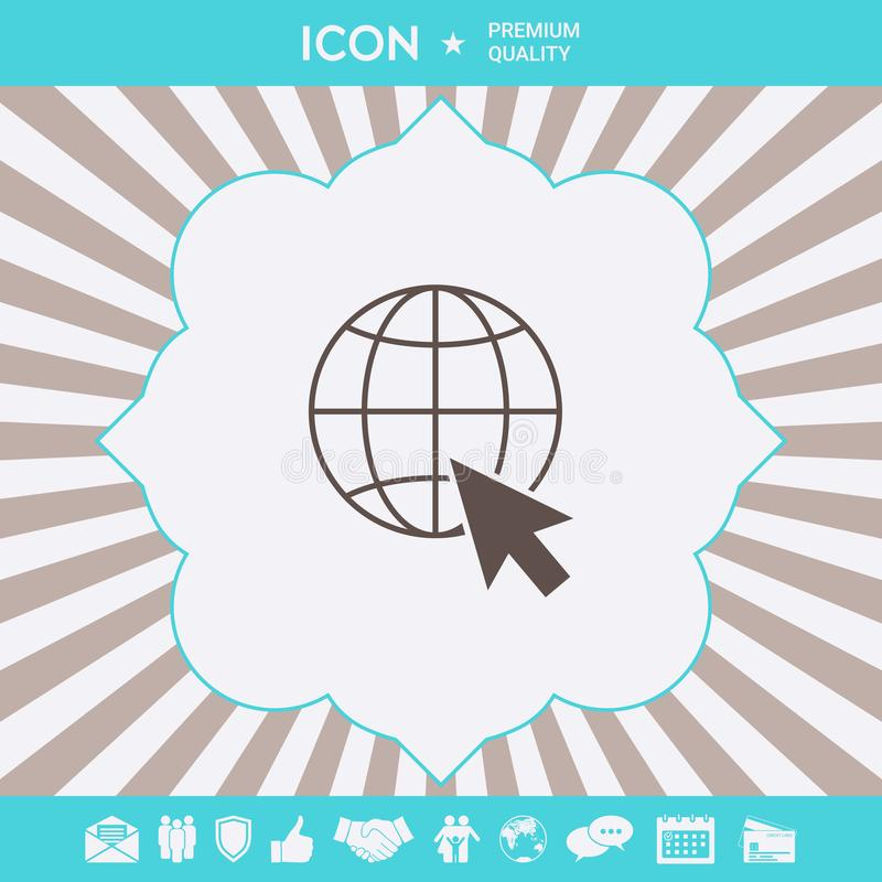 Go to web, internet icon. Graphic elements for your design. Go to web, internet icon royalty free illustration