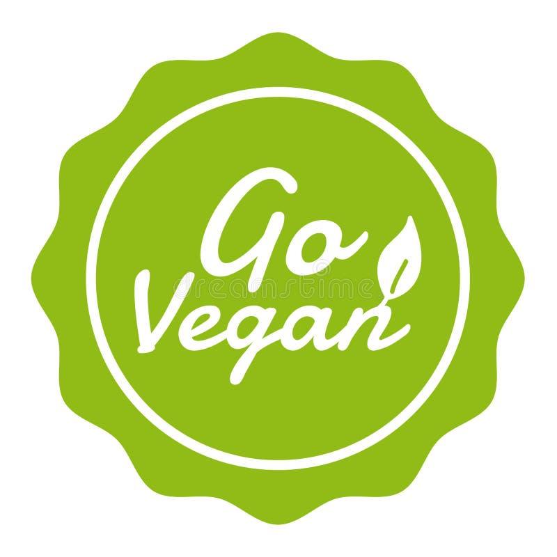Go Vegan Badge. Vegan Button. Eps10 Vector. vector illustration