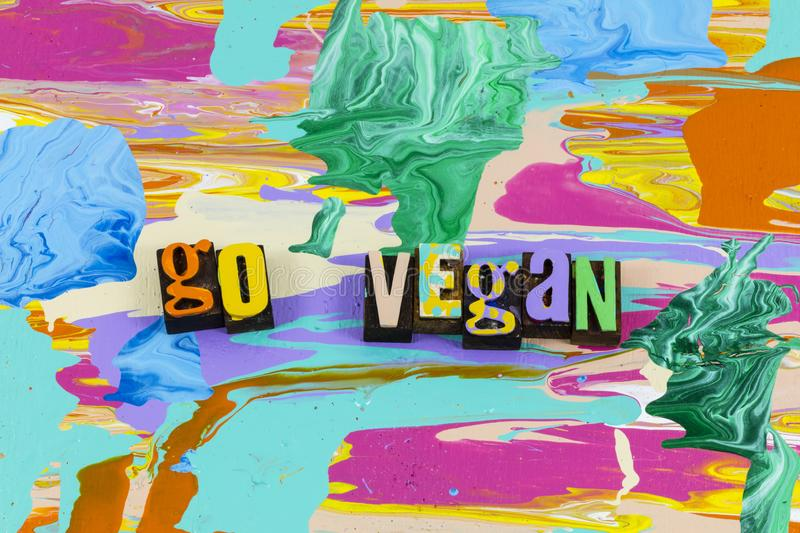Go vegan save earth think green health food stock photo