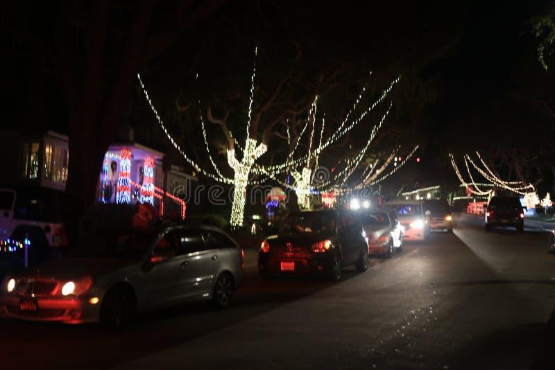 Go ver las luces el Nochebuena imagen de archivo libre de regalías