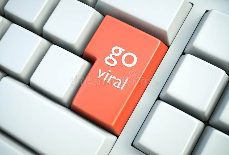 Go Viral royalty free illustration