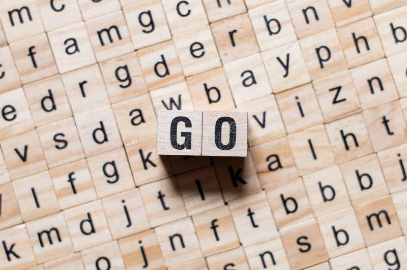 Go word concept stock photo