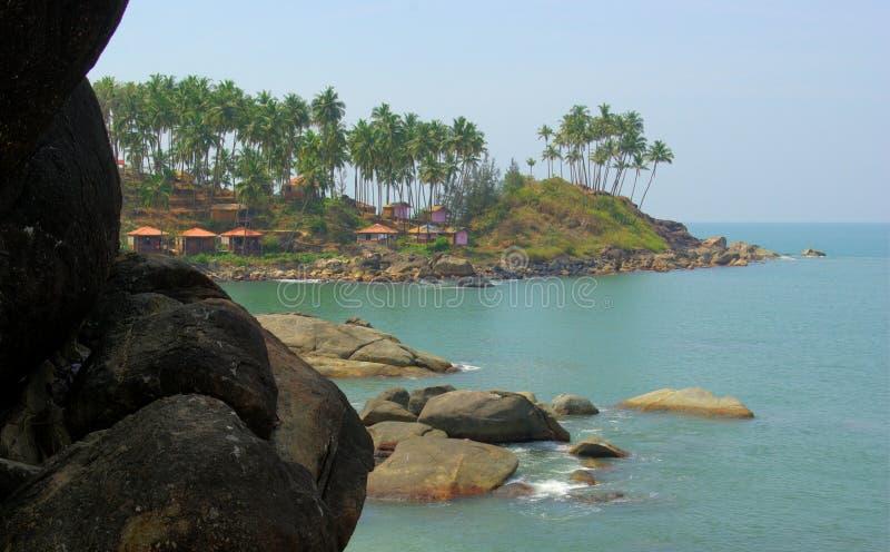 goa Ινδία παραλιών palolem τροπική στοκ εικόνες με δικαίωμα ελεύθερης χρήσης