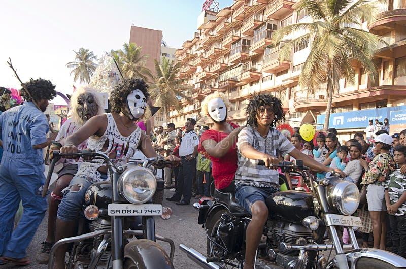 Goa Carnaval 2019, India royalty-vrije stock foto's